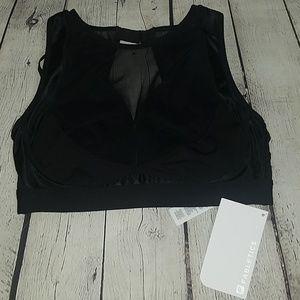 NWT FABLETICS black high impact sports bra, $65